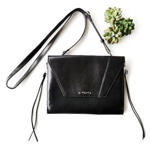 Olivia Harris Amanda iPad Crossbody Black Leather